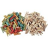 Creation Station - Mini mollette in legno da bucato, 200 pz, colore: beige e misti