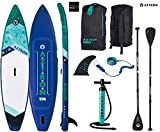 AZTRON urono 11.6 Double Double Sup Stand Up Paddle Board con Style Aluminio Remo y Leash
