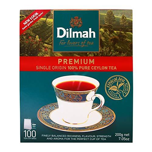 Dilmah Tea, Premium Quality 100% Pure Ceylon Tea, 100 Tea Bags