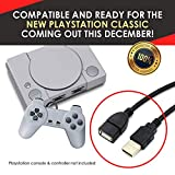 PlayStation Classic Controller Extension Cable 2 Pcs Set - 3 Meters (10 feet) Extra Long Cables for PS Classic Mini Console by EVORETRO