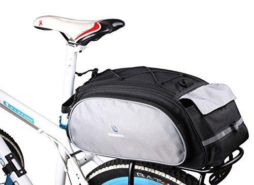 Roswheel der neuen Ankunfts-Fahrrad-Gepäckträger -Tasche Sitzfracht Bag Rear-Pack Trunk Pannier Handtasche Multifunktionstasche (Schwarzgrau) (Fahrrad-handtasche)