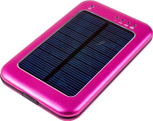 MTEC Solar Ladegerät *5600mAh* / externer Akku für Samsung Galaxy S5 / S4 Mini / S3 / S3 Mini / S2 / Note / Note 2 / Note 3 / Ace / Y / Galaxy Tab / Sony Xperia Z2 / Z1 / Compact / Z / M / HTC One / M8 / One mini / One mini 2 / Desire 310 / Motorola Moto G / Moto X / LG G3 / G2 / G2 Mini / Google Nexus 5 / L90 / Huawei Ascend Y530 / Y300 / G6 / 6 / Apple iPhone 4 / 5 / 5S / 5C / iPad 4 / iPad Air / iPad mini 2 / iPad mini / iPad 3 / Nokia Lumia 1520 / 630 / 520 - Pink (Ein Gps Portable Star)