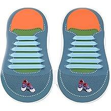 EPHVODI Elastic Silicone No Tie Shoe Laces For Adults Shoes (20pcs) Kids  Shoes ( cfd3b46e419