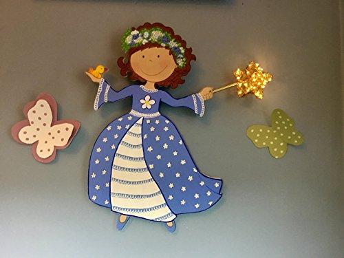 Lámpara princesa con pajarito