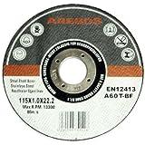 Arebos 4260199751428 Lot de 50 Meules à tronçonner en acier inox 115 mm