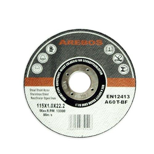 Arebos Trennscheiben 115 mm für Edelstahl Inox Metalltrennscheibe 50-Stück, 4260199751428