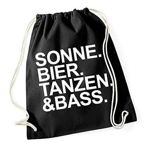 Sonne Bier Tanzen Bass Gymsack Black Certified Freak (Rock Im Park T Shirt)