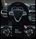 #7: NIKAVI Unique Steering Wheel Cover (Black)