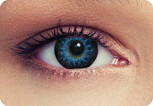 """Lentillas de color intensos para Cosplay ojo grande azul de tres meses sin dioprtías / corregir + gratis caso de lente """"High intensive Blue"""""""