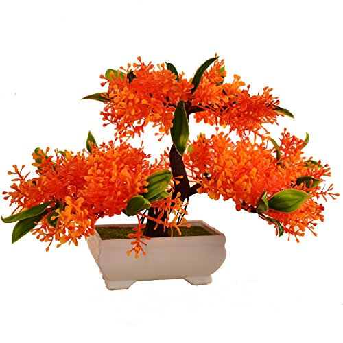 LWBAN-plant Plante Artificielle Bonsaï cèdre Artificiel en Pot, Arbre Artificiel/Bonsai déco, Hauteur 20 cm, 14