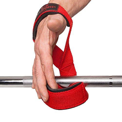 C.P. Sports Zughilfen Ruck Zuck Schlaufen - Figure 8 Straps 8er Schlaufen, Double Loop, Lifting Strap