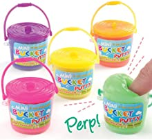 Mini Cubos de Plastilina. Perfectos como Relleno de Piñata Premios y Regalos de Fiesta (Pack de 5)