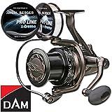DAM Quick SLS 570 FS Freilaufrolle Karpfenrolle + Pro Line x-treme Schnur 0,35mm