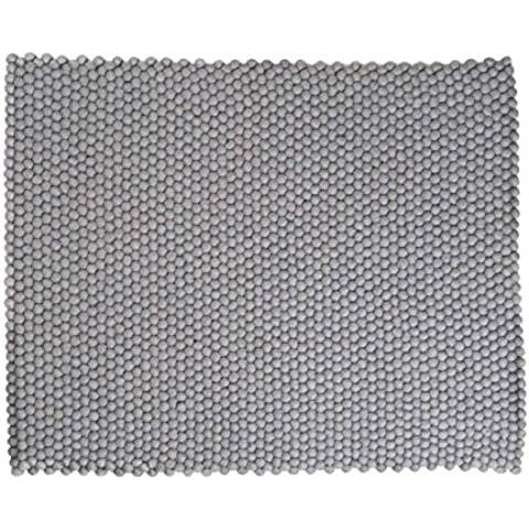 Aspru: rectángulo: Gris Alfombras de diseño escandinavo de lana de alta calidad (150cm x 200cm / 4' 11'' x 6' 6.7'')