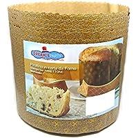 Molde Panettone 500g Alto – 10 piezas – pirottino desechable de papel de horno - Ideal para panettoni, Panettone gastronomico, tartas de Navidad, pandoro ecc. [Dream's Party]