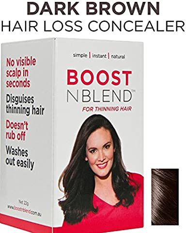 BOOSTnBLEND Dark Brown Hair Loss Scalp Concealer for Women with