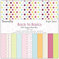 """Dovecraft Back To Basics Bright Spark Collection - Paper Pack 8""""x8""""  (12 Designs, FSC)"""