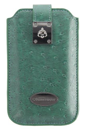 Commander 12547 Ostrich Case für Samsung Galaxy S2 Größe L dunkelgrün (Apple Piel Green)