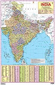 India Map- With New Union Territories of Jammu & Kashmir and Ladakh (Poster)-
