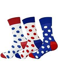Jasmine Silk 3 Pairs Supersoft Mens 100% Bamboo Socks Thermal Sock 7-11 (Dots)