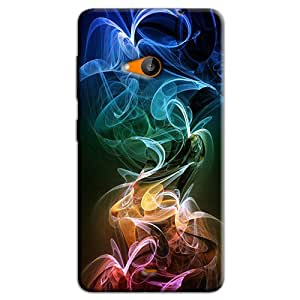COLORFUL SMOKE WAVES BACK COVER FOR MICROSOFT LUMIA 540