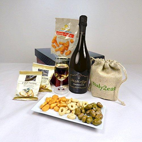 Prosecco Wine & Italian Nibbles Gift Hamper Box- 'cos They're a 'Grape' influence!