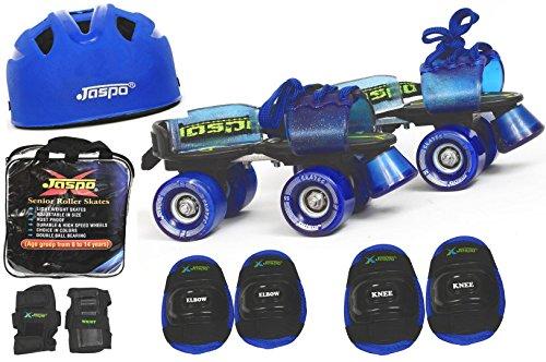 Jaspo Blue Men Pro Senior Skates Combo (skates+helmet+knee+elbow+wrist+bag)suitable for age...