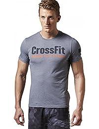 Reebok RCF FEF TEE - Camiseta para hombre, color gris, talla XS