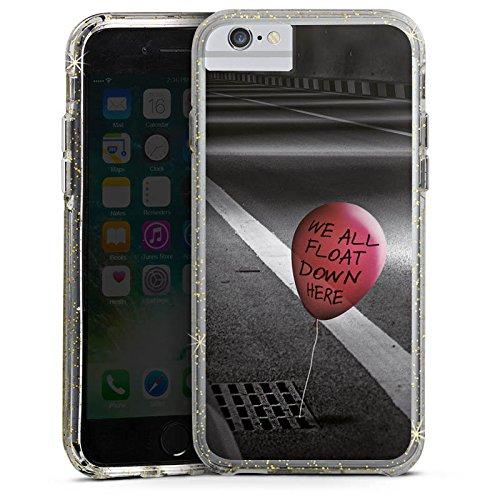 Apple iPhone 6s Bumper Hülle Bumper Case Glitzer Hülle Clown Luftballon Es Bumper Case Glitzer gold