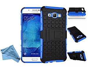 CZap Tough Stand Case Hard Armor Back Cover for Samsung Galaxy A8 - Blue