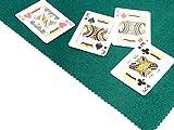 Fournier 06267. Tapete de juego para cartas. Tamaño 50x50. Grosor 3mm