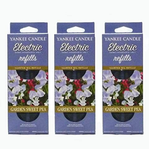 Yankee Candle - 3x Garden Sweet Pea Electric Plug-In Refill
