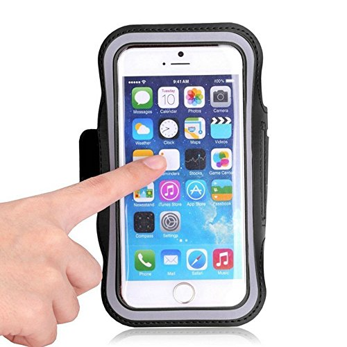 Water Resistant Sports Armband with Key Holder for iPhone 6 Plus, 6S Plus , 7 plus ,Samsung Galaxy S7 edge ,Galaxy Note 2/3/4/5 ,samsung J72015/2016,LG G3/G4/G5,Samsung s6edge+, HTC Desire 816G ,samsung a7 2016/2015&samsung note 3 neo High Visibility Reflective Running Exercise Armband case As Well As Any Phone That Has A Screen Up To 5.5 inch screen Bundle with USB LED LIGHT -Black  available at amazon for Rs.2097