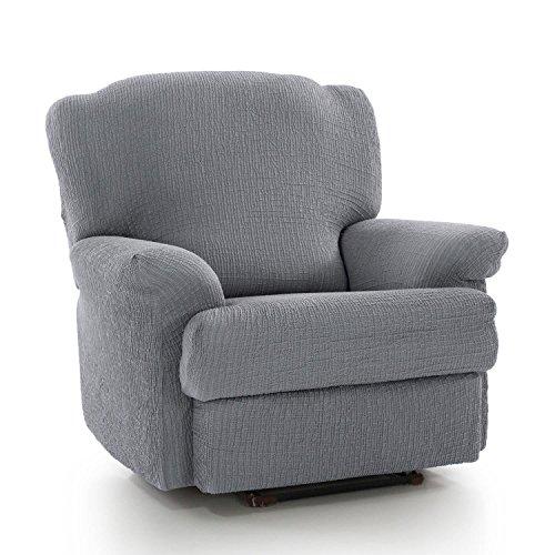 Homescapes Housse de fauteuil de relaxation protectrice intégrale bi-extensible pour salon Gris clair