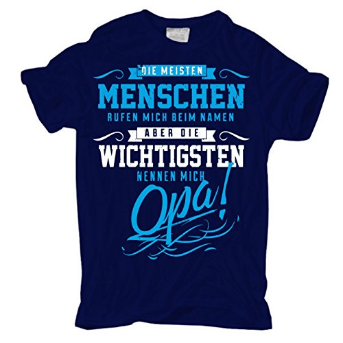 Männer und Herren T-Shirt Die wichtigsten nennen Mich Opa (Leuchten Die T-shirts,)
