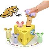 YGJT Jouet Bebe 1 an Montessori Jouet en Bois Garçons Filles Jeux de Tri Motricité Fine Puzzle en Bois pour Enfants 1 2 3 Ans