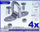 4x Lasche Ring 800daN 800kg Zurrpunkt Zurrlasche Zurröse Öse für Spanngurt Gr. 1