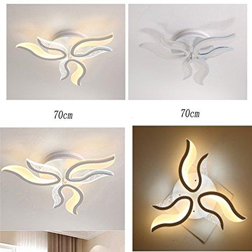 Acryl Schatten-tischleuchte (Kreative Moderne LED Anhänger Unterputz Deckenleuchten Licht Acryl Super helle LED kronleuchter Deckenleuchte Geformt Küche Schlafzimmer Innen Lampe white light , 220 v 100 cm)