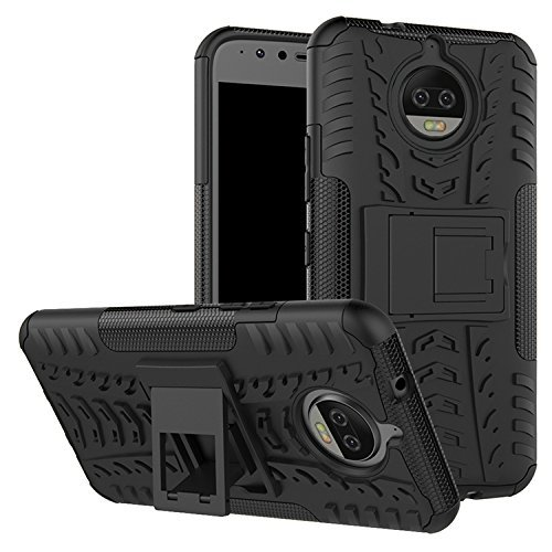 For Moto G5S Plus (August 2017 Launch - 5.5 INCH),ZYNK CASE Hybrid Armor Design Detachable And Stand-up Feature Dual Layer Protective Shell Hard Back Cover Case For MOTO G5S PLUS-Space Black