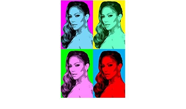 celebrity singer JENNIFER LOPEZ multiple image POP ART poster 24X36 HOT new