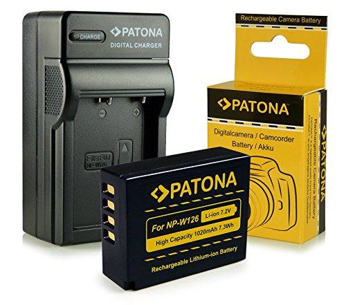 Caricabatteria + Batteria NP-W126 per FujiFilm FinePix X-Pro 1 | HS30 EXR | HS30EXR | HS-30EXR | HS33 EXR | HS33EXR | HS-33EXR | HS50EXR | X-E1 |