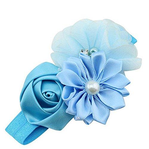 Jewel Bandeau (koperras BéBé Fille Solide Fleur Perle Fleur Bande De Cheveux Bandeau Bandeau Accessoires Cheveux Bu)