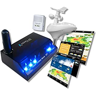 Wireless Weather Station WeatherSleuth® - Professional IP Weather Station with Direct Real-time Internet Monitoring + Free Beginner's Guide (eBook)