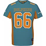 Majestic NFL Mesh Polyester Jersey Shirt - Miami Dolphins, Größe M, Farbe Aqua