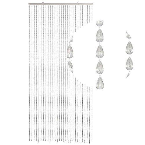 HAB & GUT (DV029) Cortina de puerta de cristales - NEGRO opaco, 30 hil