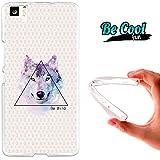 """Becool® Fun - Funda Gel Flexible Bq Aquaris M5 Dibujo Lobo """"Be Wild"""".Carcasa TPU fabricada con la mejor Silicona, protege y se adapta a la perfección a tu Smartphone y con nuestro diseño exclusivo Dibujo"""