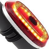 Bewegungs-Sensor-Fahrrad-Rücklicht USB-nachladbares ultra helles Fahrrad-Rücklicht passt auf irgendwelche Rennrad-Fahrräder, Sturzhelme, Radfahrensicherheits-Taschenlampe mit Bremsen-Abfragung (Schwarz)