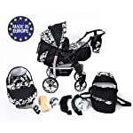 Sportive X2, 3-in-1 Travel System incl. Baby Pram with Swivel Wheels, Car Seat, Pushchair & Accessories (3-in-1 Travel…
