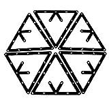 6 Stk. Magische Rack Billard Dreieck Triangel Queue Zubehör schwarz