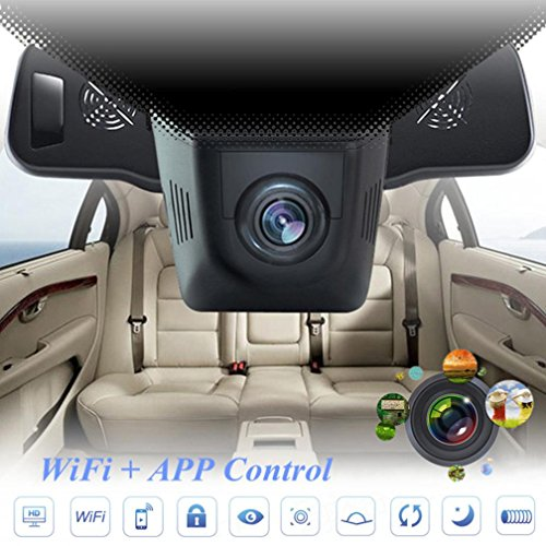 D 1080p WiFi DVR Fahrzeug Kamera Video Recorder Dash CAM Night Vision (A) (Dvr Dash Cam Video Recorder)